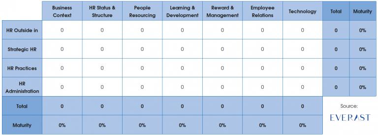 HR maturity analysis framework